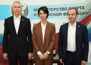 Олег Матыцин, Аркадий Дворкович и Анастасия Мыскина провели жеребьёвку Турнира претендентов FIDE
