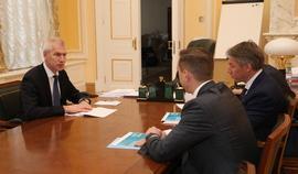 Олег Матыцин обсудил с Алексеем Сорокиным и Александром Алаевым подготовку к матчам Евро-2020 в Санкт-Петербурге