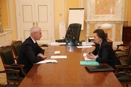 Олег Матыцин провёл встречу с губернатором Ханты-Мансийского автономного округа – Югры Натальей Комаровой
