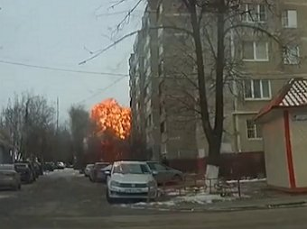 Опубликовано видео мощного взрыва на подстанции в Подольске