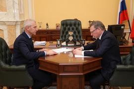 Рабочая встреча Олега Матыцина с губернатором, председателем Правительства Омской области Александром Бурковым