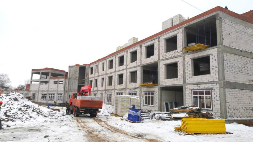 Строительство пристройки к школе в Серпухове планируют завершить в августе 2020 года