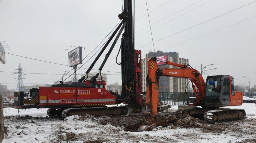 Строительство путепровода в составе Репинской развязки стартовало в Химках