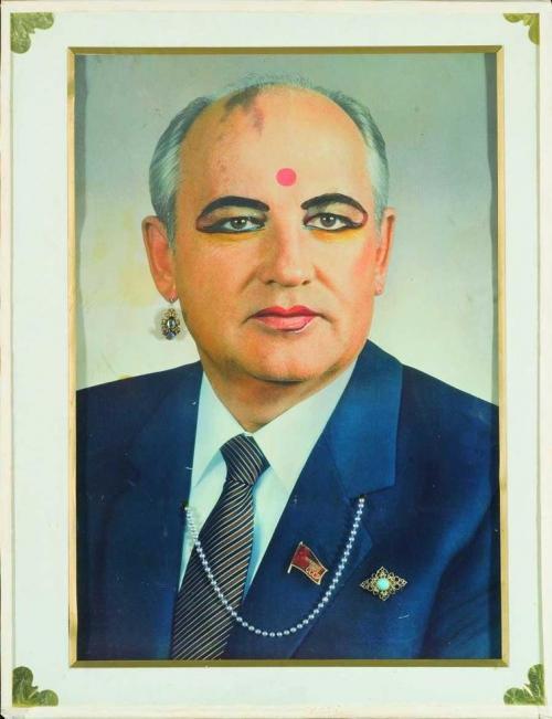 Владислав Мамышев-Монро «Горбачев в виде индийской женщины», 1989 год