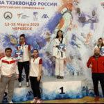 3 медали на всероссийских соревнованиях по тхэквондо завоевали подмосковные спортсменки