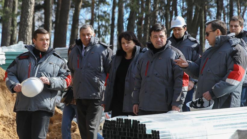 Губернатор проверил ход капитального ремонта двух лечебных корпусов в Звенигороде