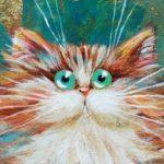 Мастер-класс по правополушарному рисованию «Кошечка Золотинка»