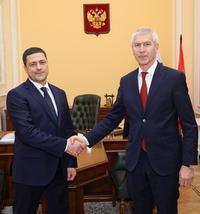 Олег Матыцин провёл рабочую встречу с губернатором Псковской области Михаилом Ведерниковым