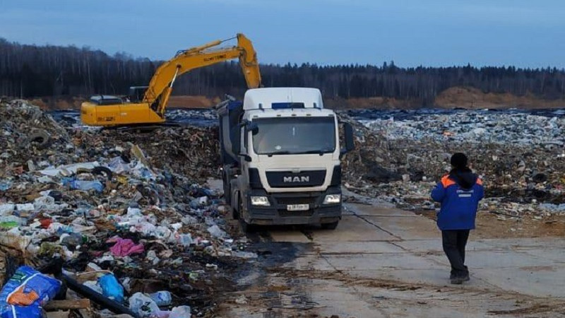 Площадку временного содержания отходов ликвидируют в Рузском городском округе