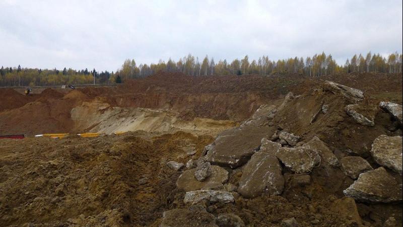 Работы по рекультивации отработанного карьера вблизи Звенигорода приостановили