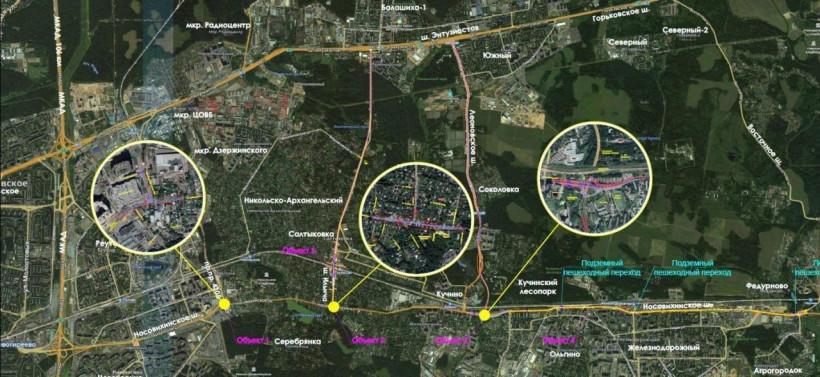 Разработку еще двух проектов по реконструкции Носовихинского шоссе начали в Подмосковье