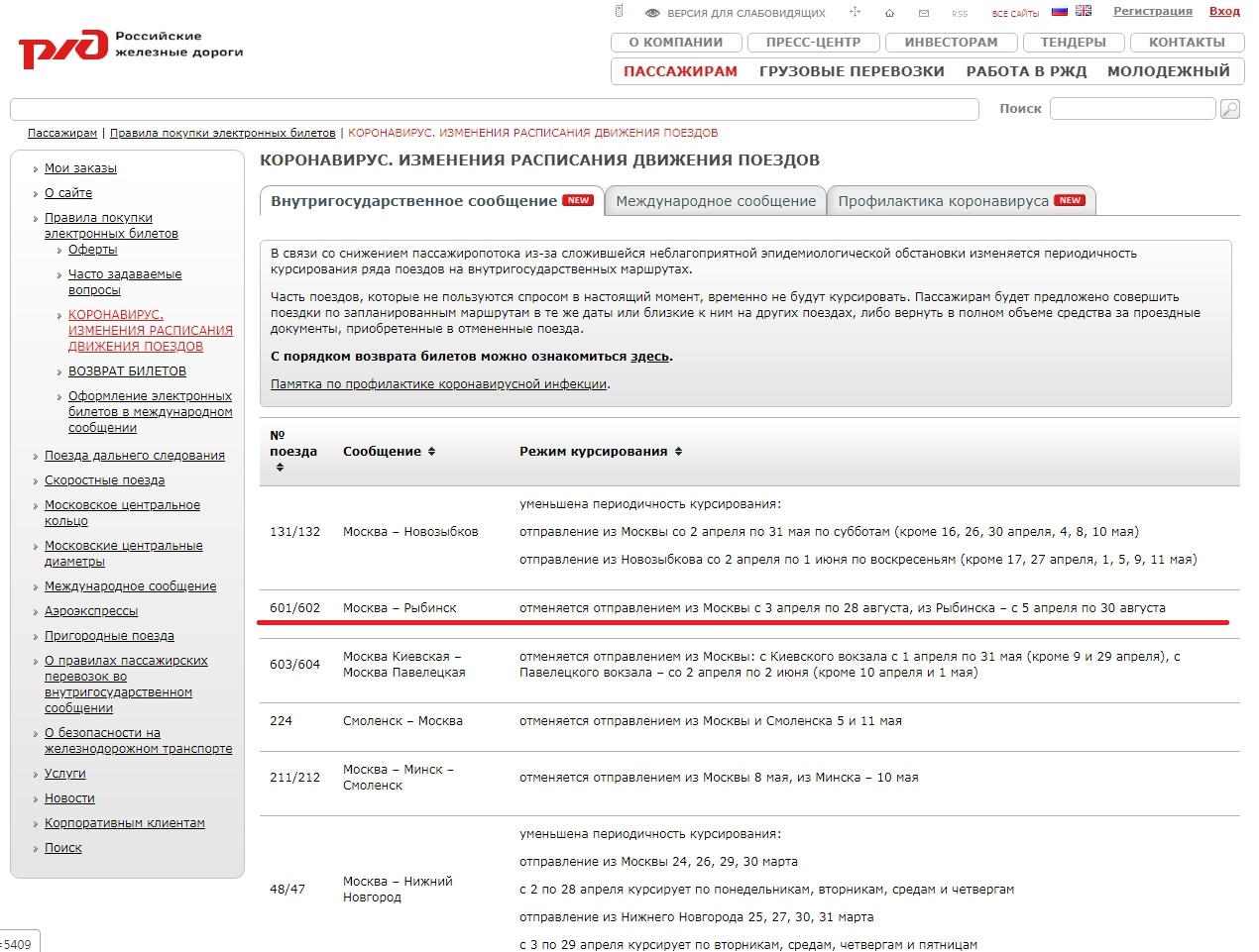 РЖД отрезала 200-тысячный Рыбинск от сообщения с Москвой на полгода из-за коронавируса