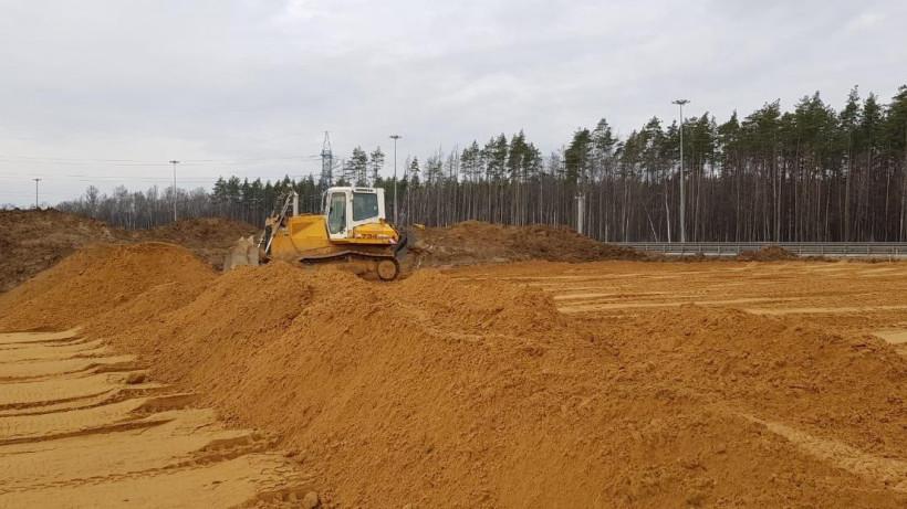 Устройство опор путепровода начали на новом выезде из Трехгорки