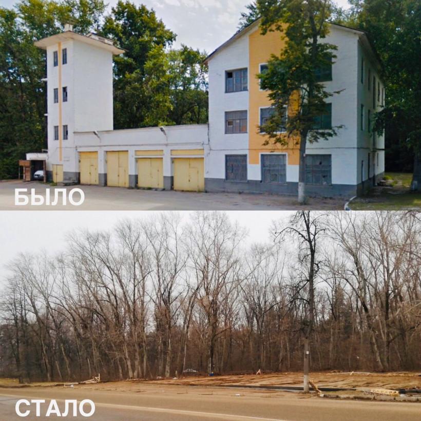 Аварийное здание пожарного депо снесли в Коломне