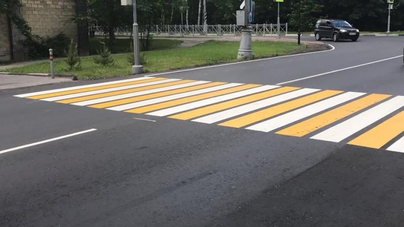 Дорожную разметку восстановили на 195 пешеходных переходах в Подмосковье