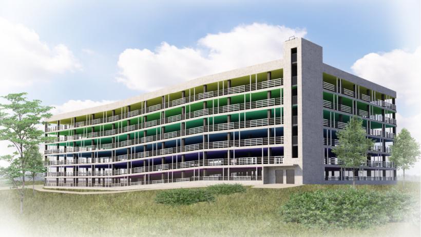 Паркинг с разноцветными этажами возведут в Балашихе
