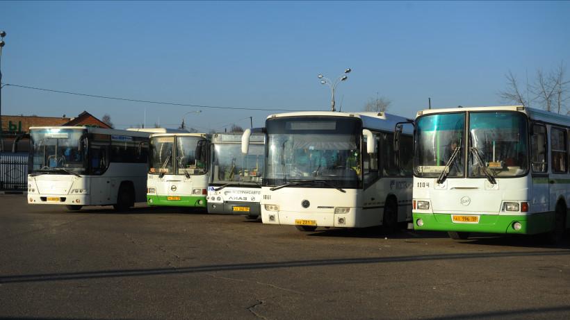Пассажиропоток в автобусах Подмосковья сократился на 82% по сравнению с началом марта