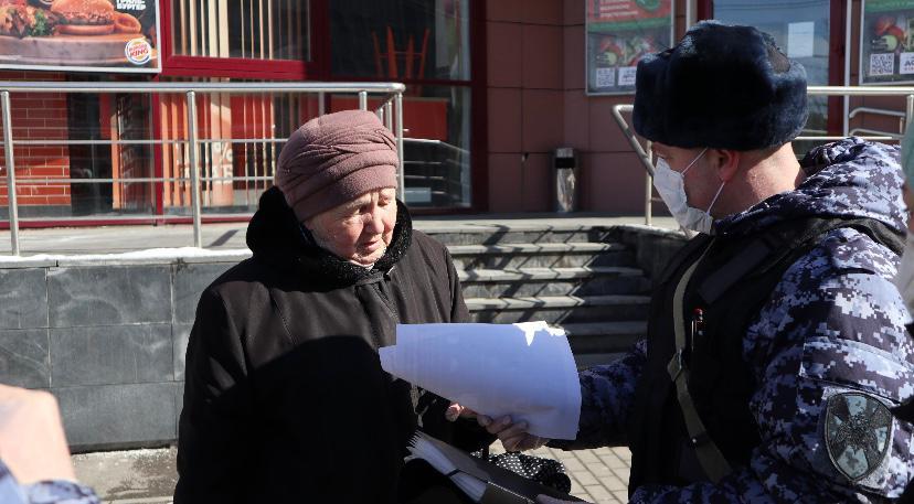 Росгвардейцы призывают жителей Подмосковья оставаться дома