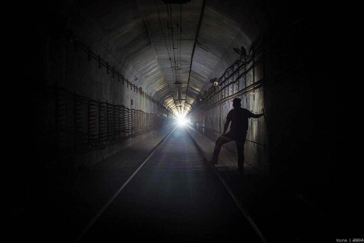 свет в тоннеле