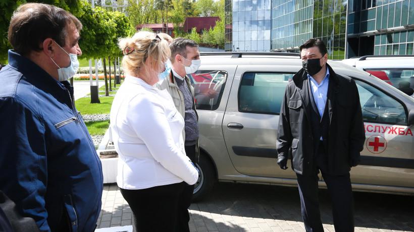 Губернатор проверил готовность к отправке 36 новых машин неотложной помощи для нужд больниц