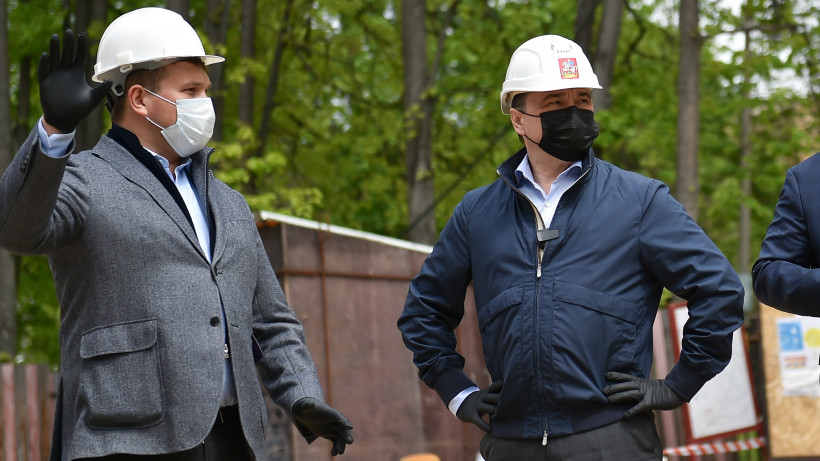 Губернатор проверил ход строительства музыкального колледжа в Пушкинском городском округе