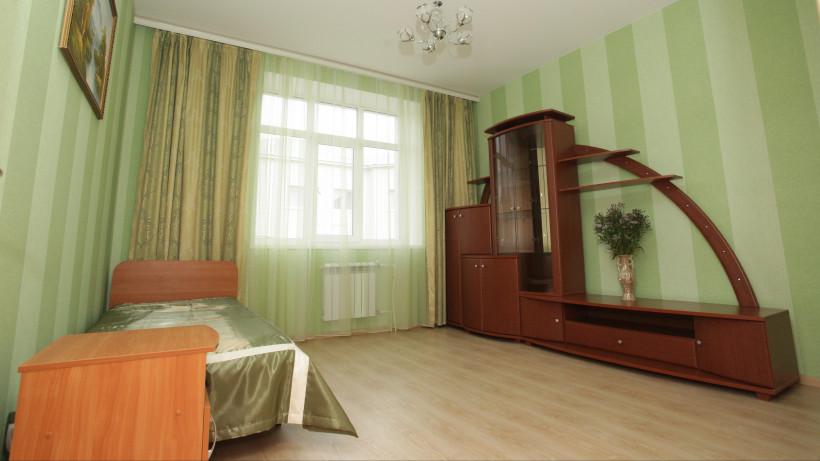 Комната в новом семейном комплексе социально-реабилитационного центра «Остров надежды» в Дмитрове.