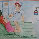Конкурс рисунков «Кто такой медицинский работник?»
