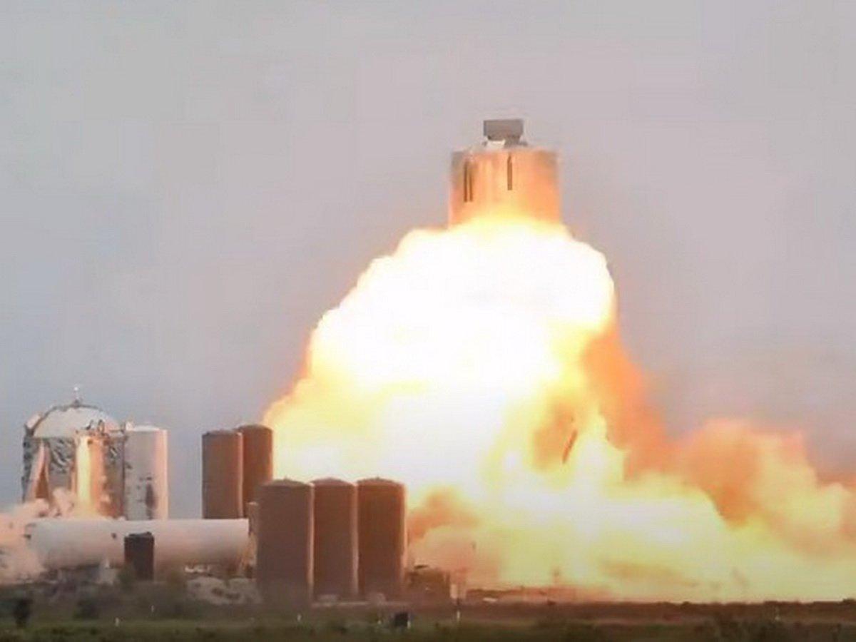 Корабль Илона Маска Starship SN4 взорвался во время испытаний