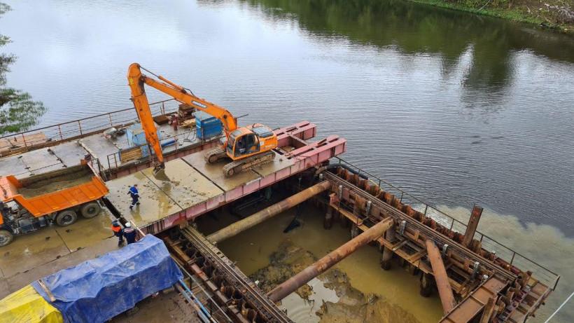 Работы по реконструкции Афанасьевского моста возобновили в Воскресенске