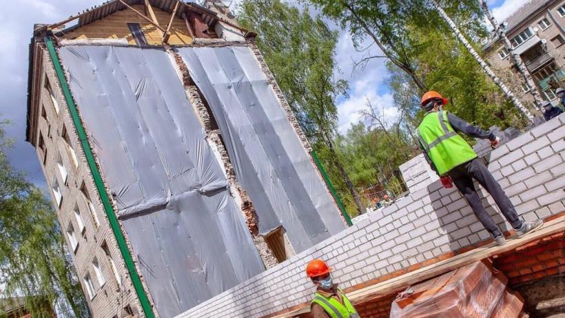 Ремонтные работы разрушенного дома в Орехове-Зуеве завершат к октябрю