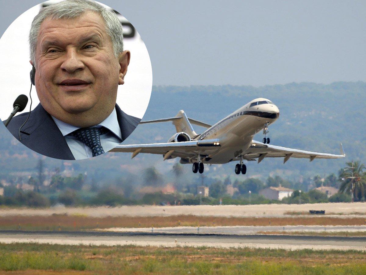 СМИ: бизнес-джет, которым летает глава Роснефти Сечин, в разгар пандемии улетел в Вену (ФОТО)