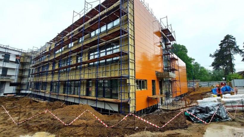 Строительство школы на 275 мест в городском округе Люберцы ведется в графике