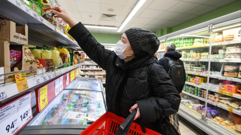 В подмосковных магазинах начали оповещать покупателей об обязательном ношении масок