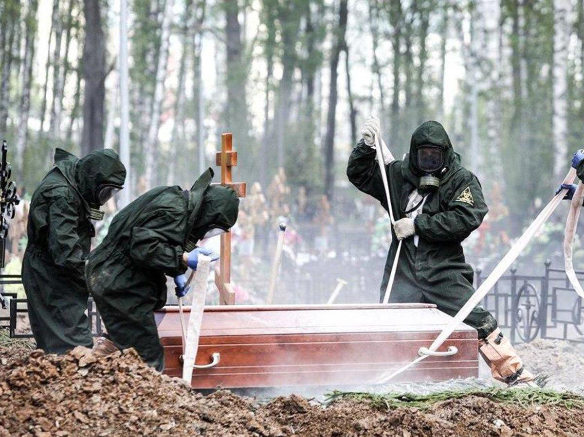 Похороны умершего от коронавируса