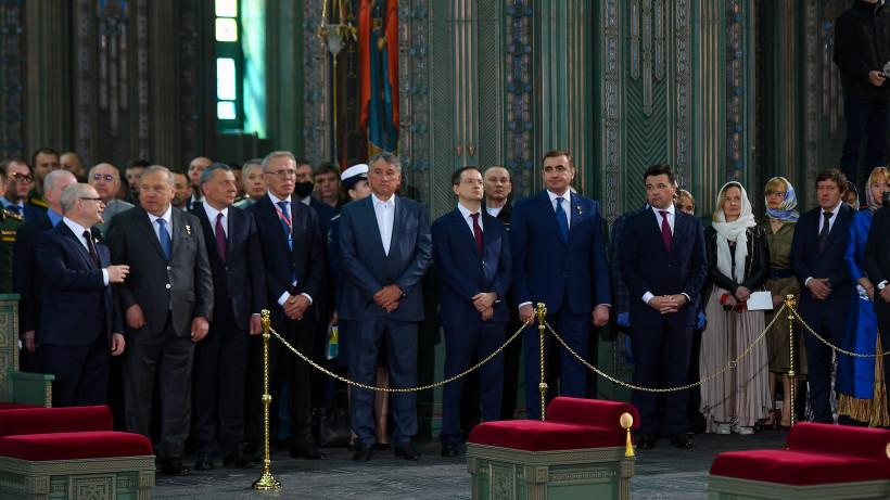 Андрей Воробьев принял участие в церемонии освящения Главного храма Вооруженных сил РФ