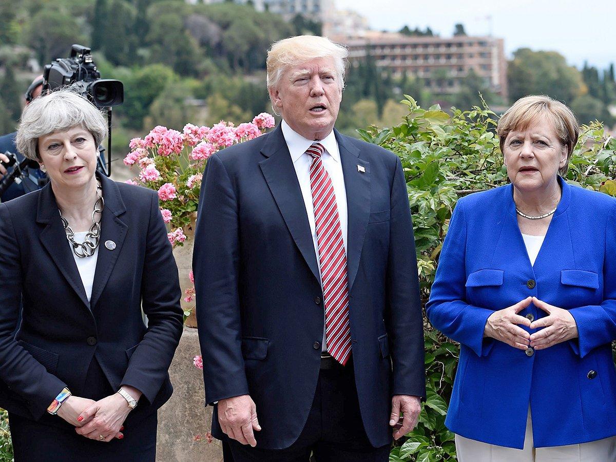 Трамп унизил Мэй и Меркель