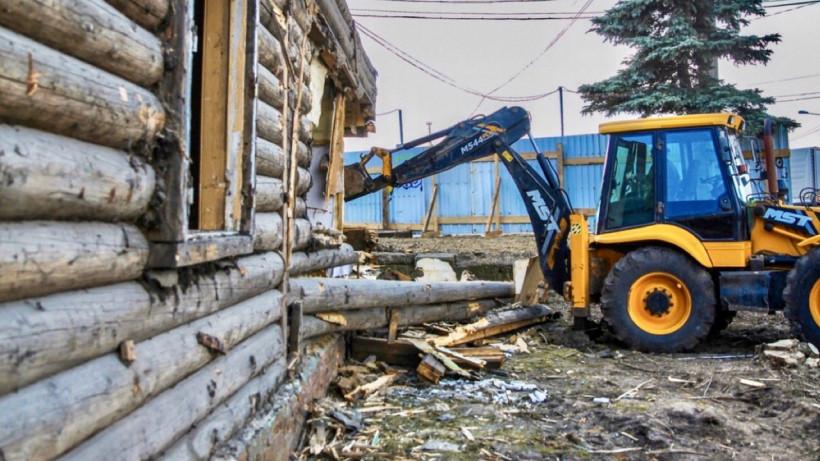Аварийное здание сельской администрации снесли в городском округе Клин