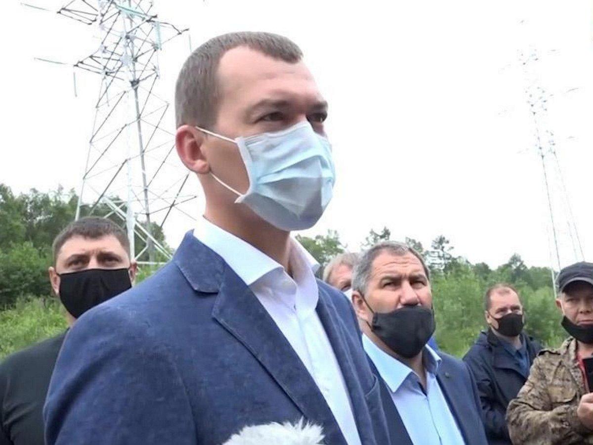 Дегтярёв пообщался с участниками акции в поддержку Фургала