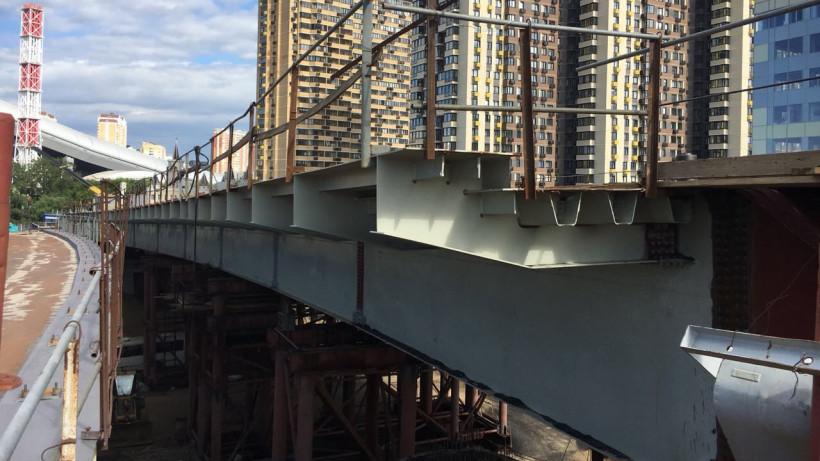 Надвижку пролетного строения моста через реку начали в Воскресенске