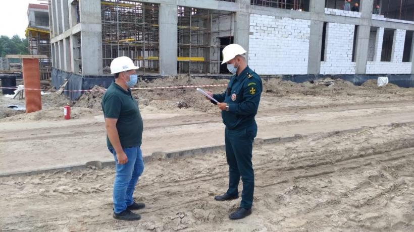 проверка строительства школы в Электрогорске