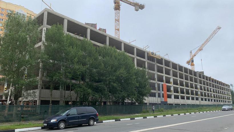 Строительство многоуровневого паркинга в Долгопрудном ведется в графике