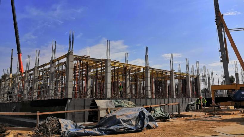 Строительство школы в Можайском городском округе ведется по графику