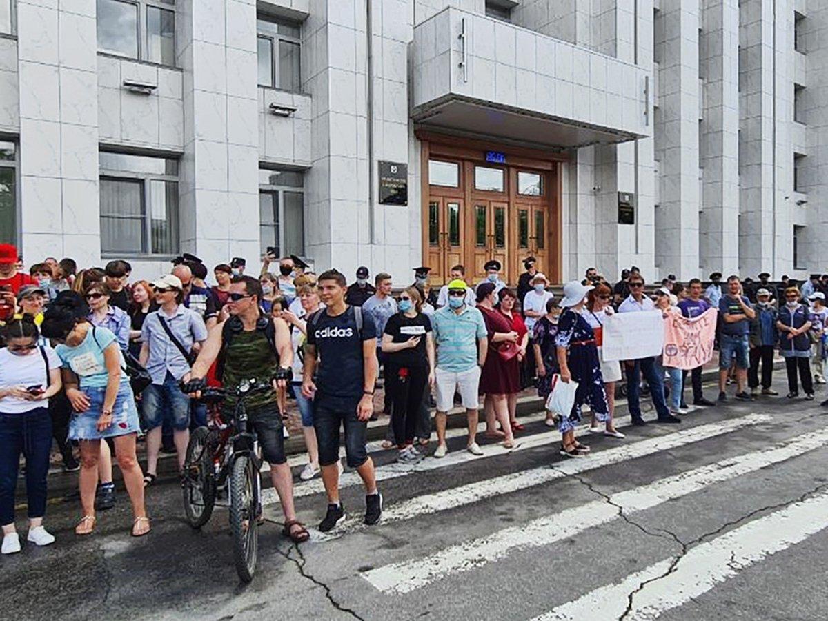 В Хабаровске прошел новый митинг в поддержку губернатора Фургала