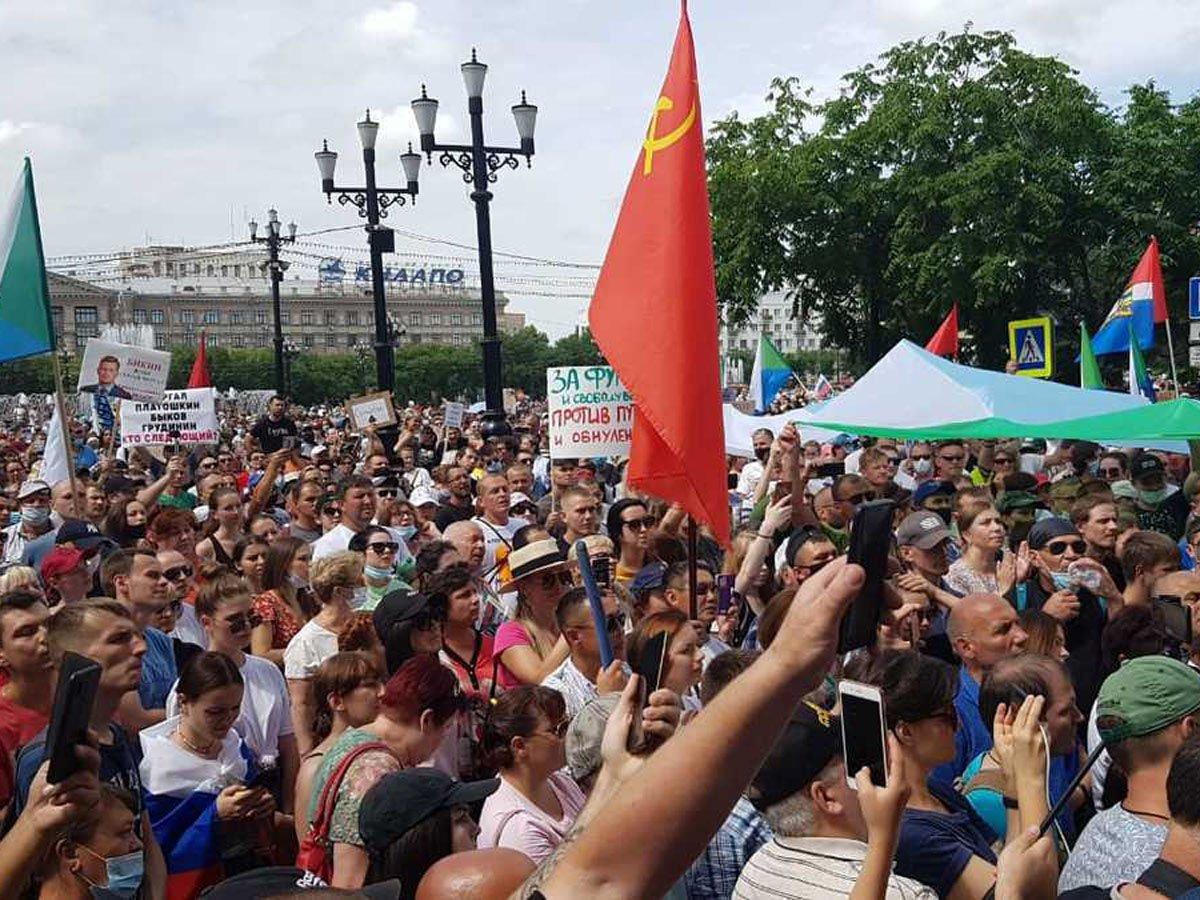 В Хабаровске в поддержку Фургала на улицы вышли 6,5 тысячи протестующих