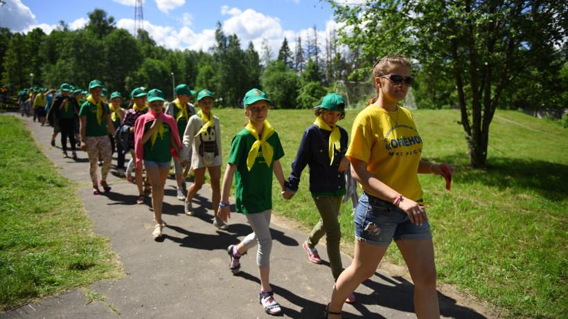 Загородные детские лагеря начали работу в Московской области по поручению губернатора