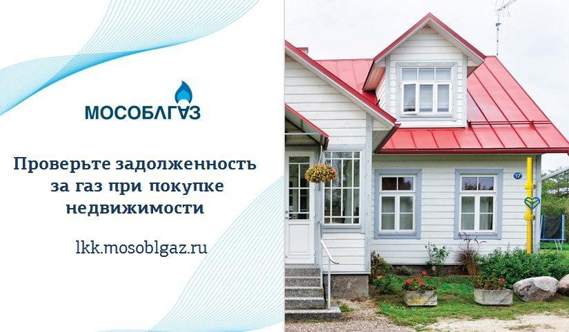 Жители Подмосковья могут бесплатно проверить задолженности за газ