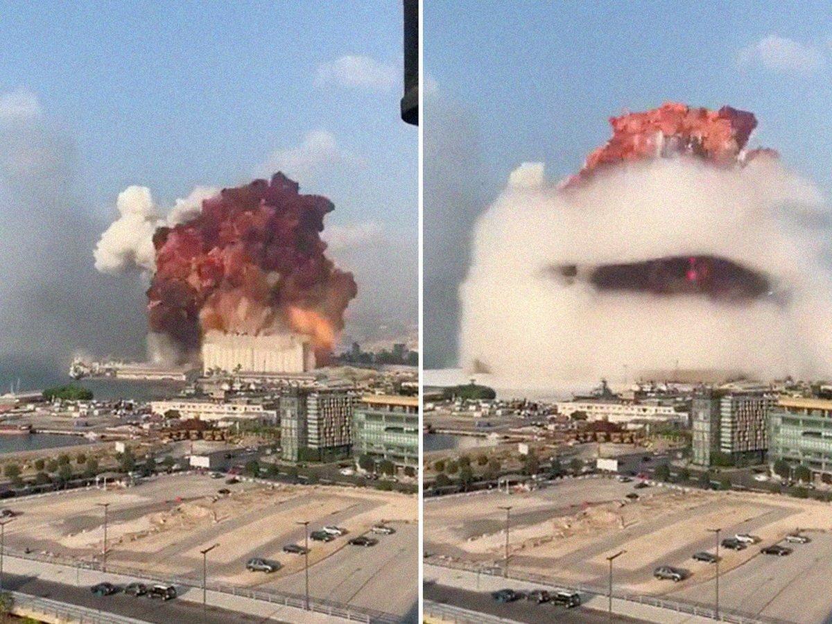 Два мощных взрыва в Бейруте сравнили с Хиросимой: есть жертвы, сотни раненых