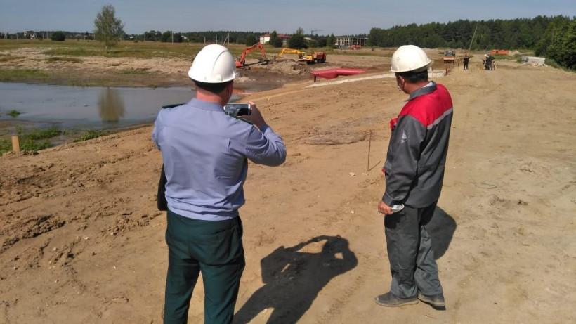 Главгосстройнадзор Подмосковья проверил ход реконструкции плотины в Егорьевске