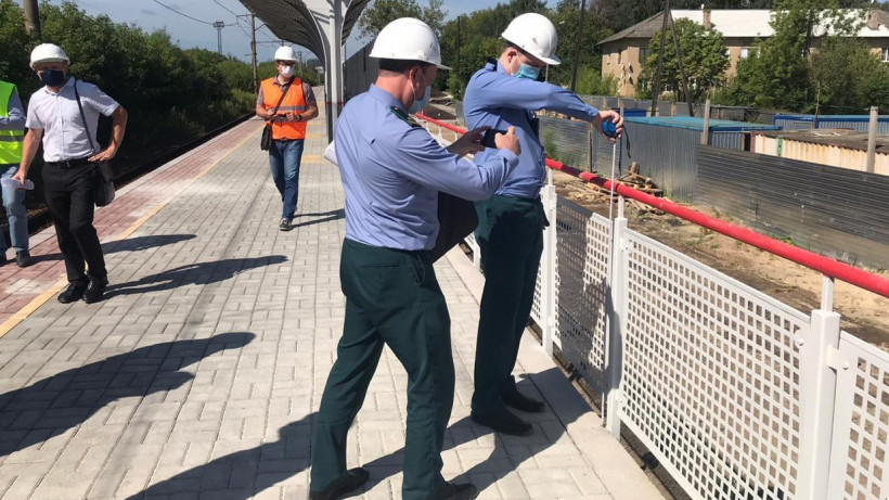Главгосстройнадзор Подмосковья проверил ход реконструкции ж/д платформы в Павловском Посаде