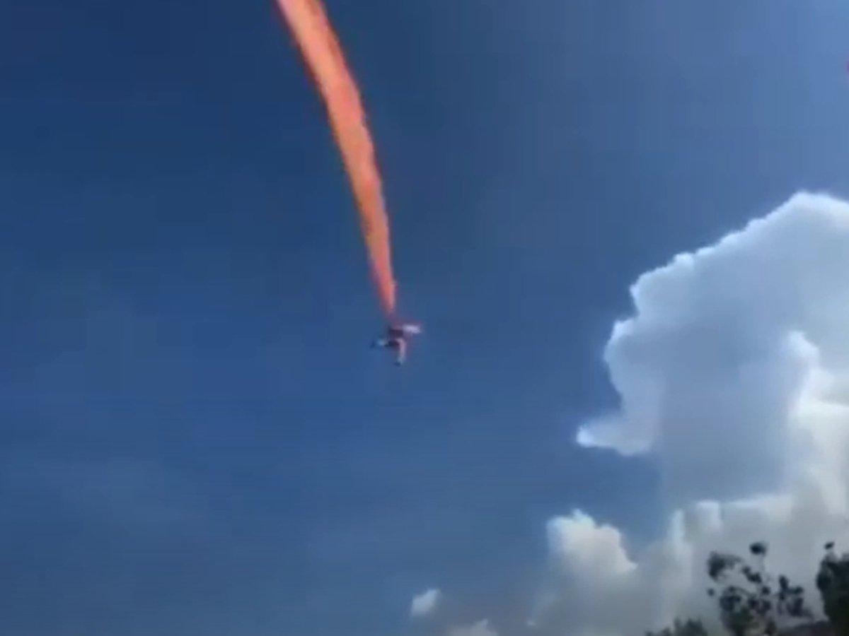 Воздушный змей поднял девочку в небо